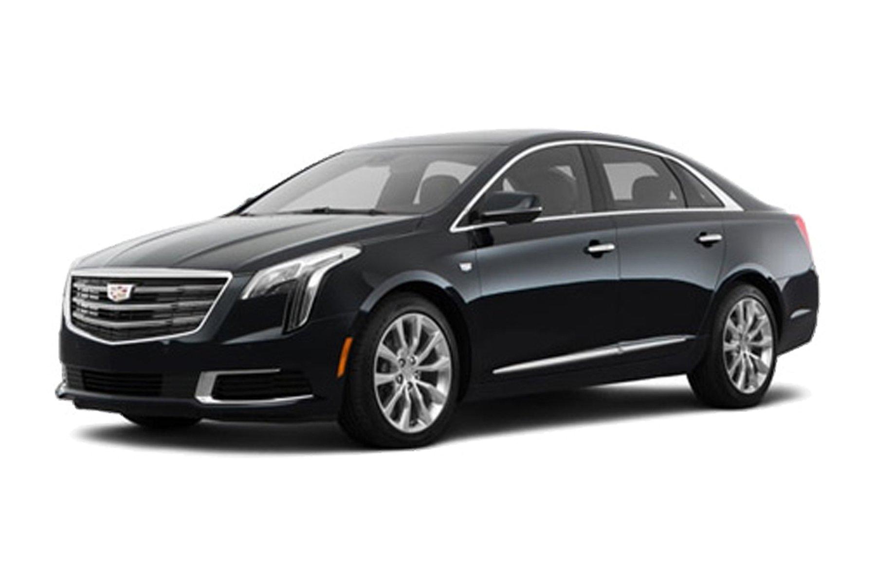 Skyline Chicago Limo Cars Luxury Fleet Black Cadillac XTS Exterior October 2020