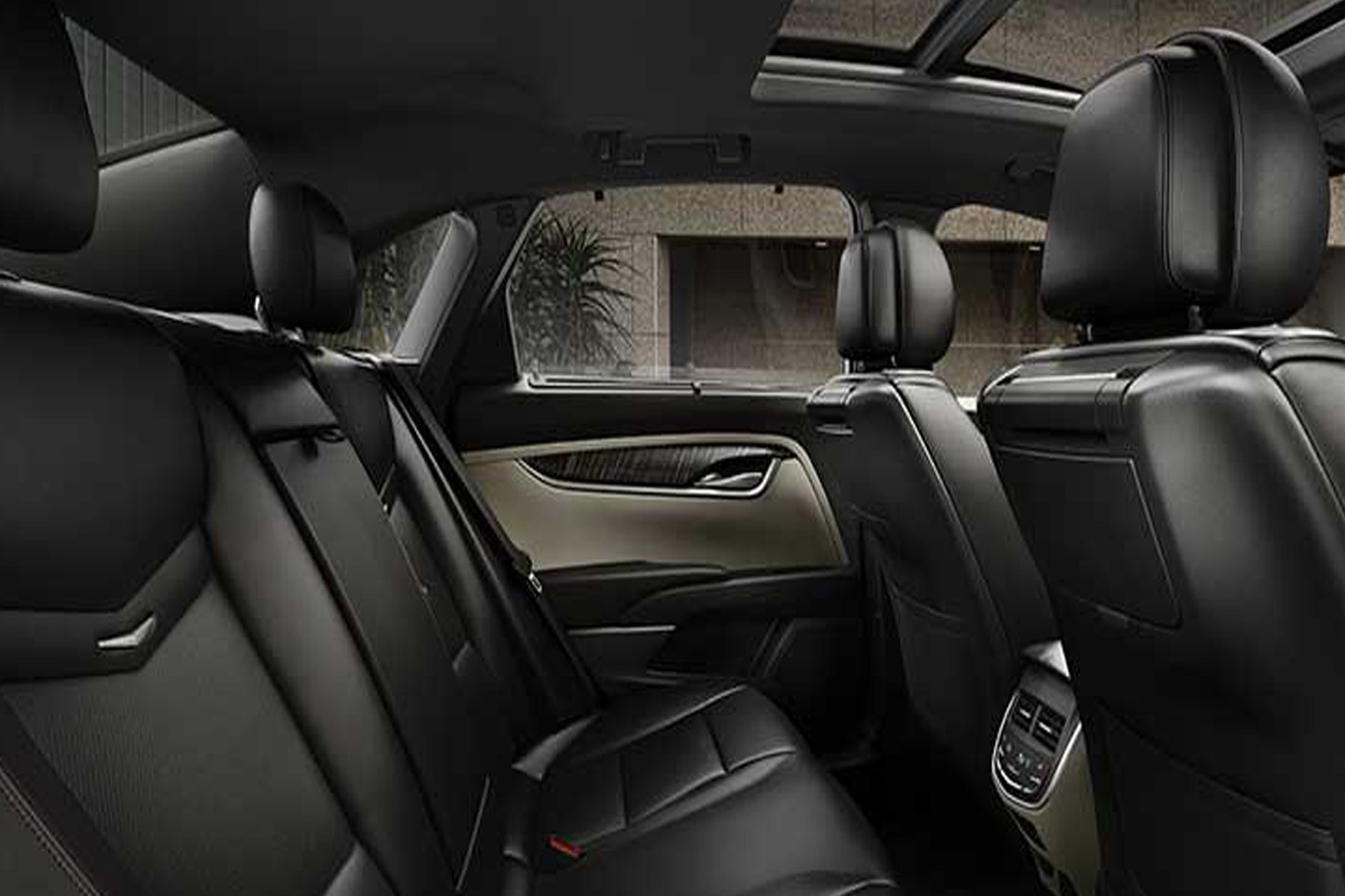 Skyline Chicago Limo Cars Luxury Fleet Black Cadillac XTS Interior October 2020