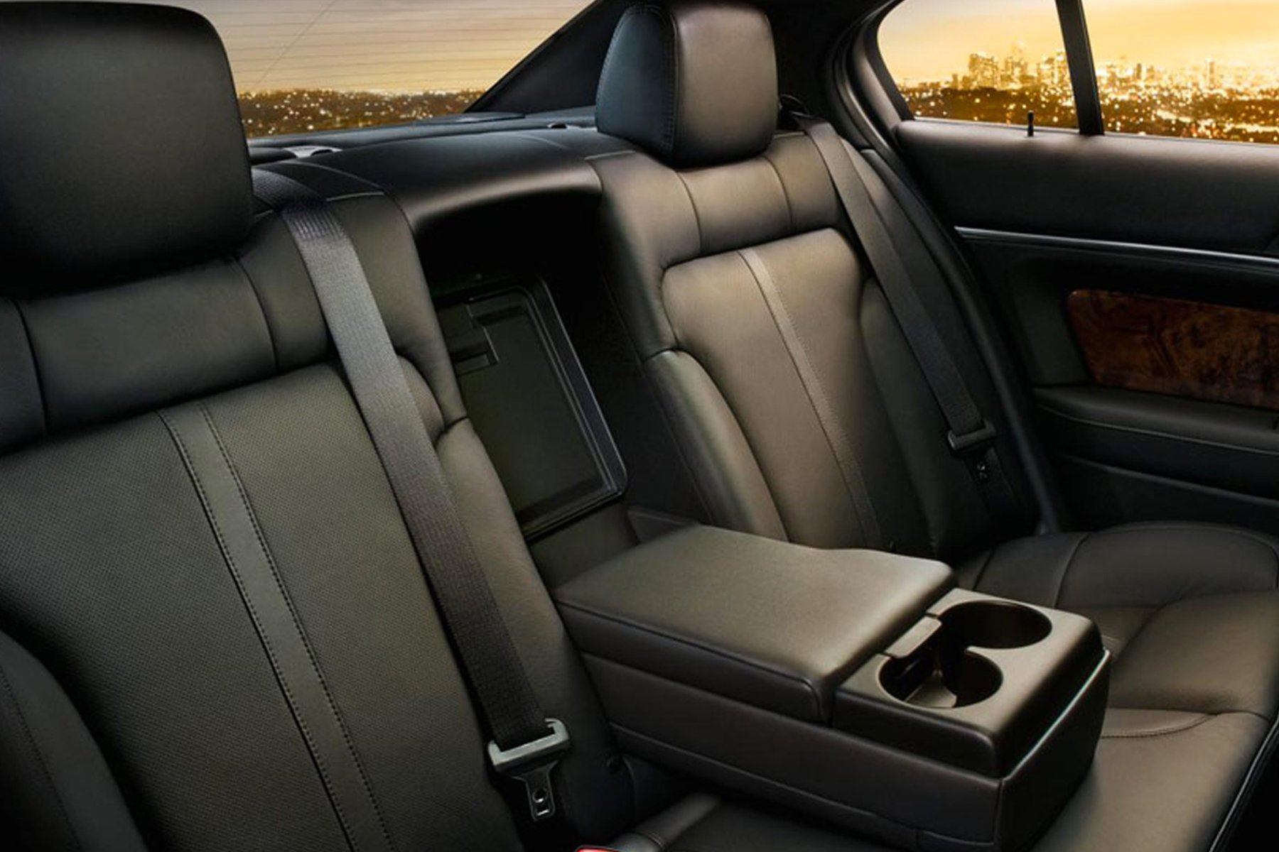 Skyline Chicago Limo Cars Luxury Fleet Black Lincoln MKS Interior October 2020