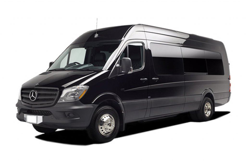 Skyline Chicago Limo Cars Luxury Fleet Black Mercedes Sprinter Exterior October 2020